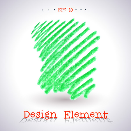 tip style design: Vector watercolor pencil stain. Element for your design.