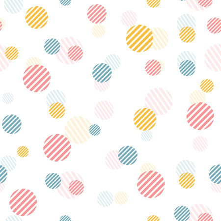 fabric textures: Vector gentle vintage seamless pattern with colorful dots. Seamless pattern can be used for wallpaper, pattern fills, web page background,surface and fabric textures. Illustration
