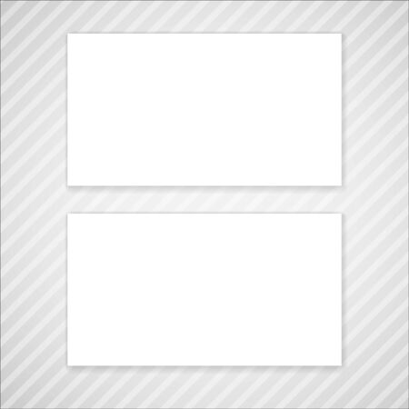 adress: Blank vector business card template. Mock-up for your design