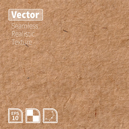 textured paper: Vector seamless brown rice paper photo texture. Background for your design.