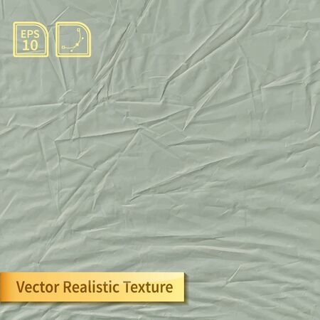 wrinkles: Vector colored crumpled polyethylene bag film photo texture. Wrapping film with wrinkles for your design.
