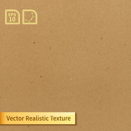 craft background: Vector soft clean cardboard texture. Photo texture for your design Illustration