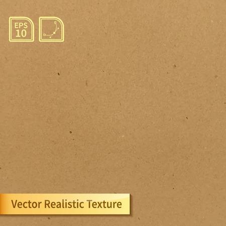 paper craft: Vector suave textura de cartón limpio. Textura Photo para su diseño Vectores
