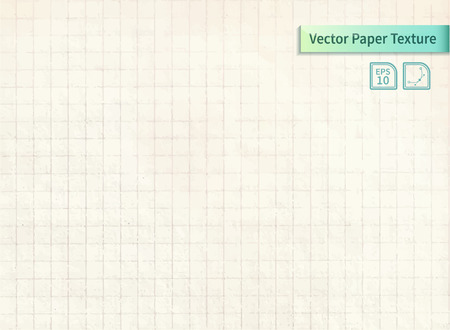 old notebook: Vector squared old paper list from notebook. Vintage background for your design Illustration