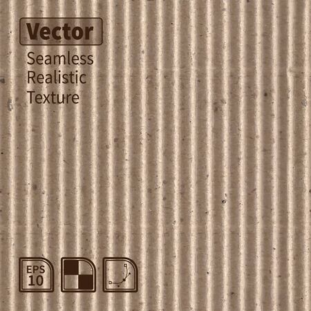 corrugated cardboard: Vector seamless corrugated cardboard photo texture.