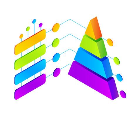 ベクトル等尺性のカラフルなインフォ グラフィック図  イラスト・ベクター素材