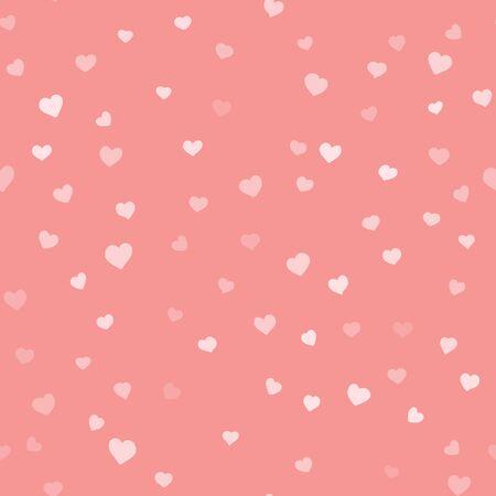バレンタインデー背景バレンタインデー単純なシームレスなベクトル手描画パターン  イラスト・ベクター素材