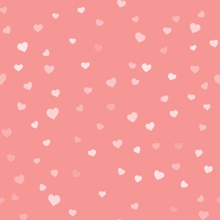 Valentines day background Valentines day simple seamless vector hand drawn pattern