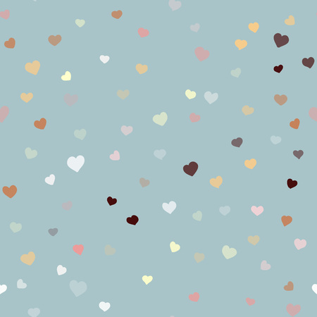 Valentines day background Happy valentines day seamless vector hand drawn pattern
