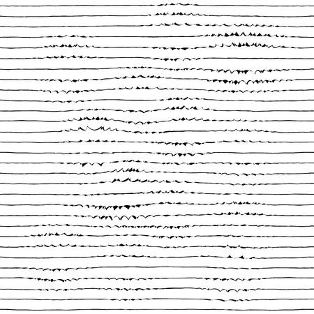曲がったラインとシームレスなミニマルな縞模様。  イラスト・ベクター素材
