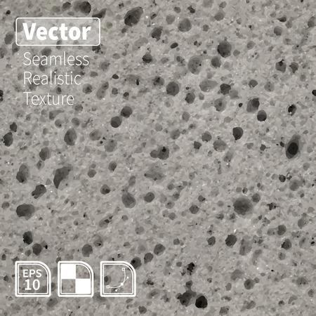 シームレスな多孔質グレー スポンジのテクスチャ  イラスト・ベクター素材