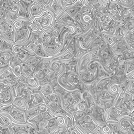 シームレスな手は、曲線から迷路を描画します。あなたの設計のための最小限の背景