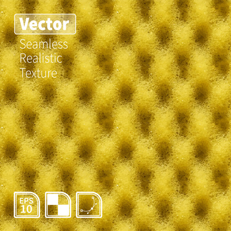 Seamless yellow sponge texture. Realistic background for your design