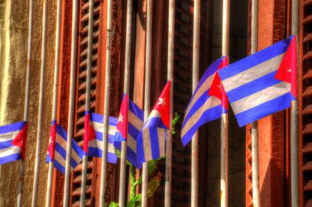 Cuban flags Banco de Imagens