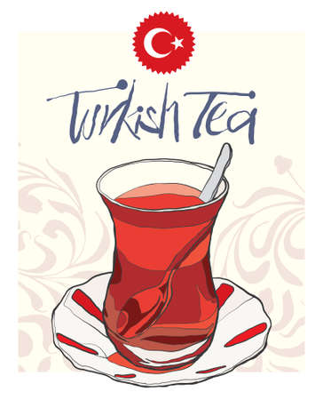 turkish tea vector