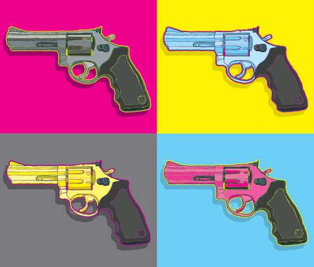 Pop art guns vector file.