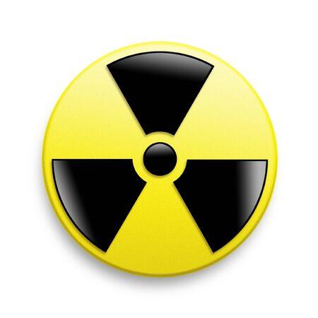 Radiation Warning Symbol on a white background