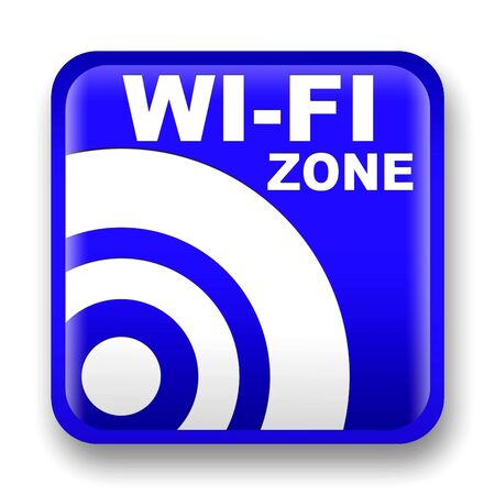 blue wifi internet signal to the store and bar photo