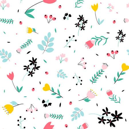 Flowers print design seamless. Vector illustration design for fashion fabrics, textile graphics, prints.
