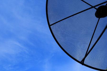 sattelite: Satellite under the blue sky.
