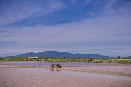 samutprakarn: salt farm Stock Photo