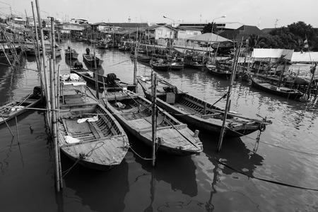 shrimp boat: Fishing boat in Thailand Stock Photo
