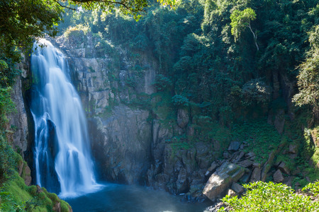 Photo of water fall in big mountain national park of Thailand. Name of water fall is Heaw Narok Stock Photo