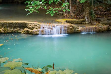 kanchanaburi: Beautiful waterfall in Kanchanaburi Thailand.