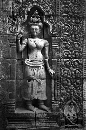 bass relief: Ancient Cambodia Stone Bass relief   Laos PDR