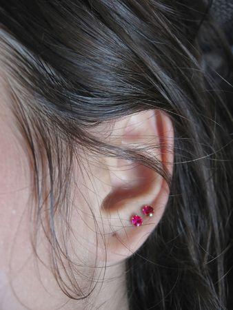 aural: ear Stock Photo