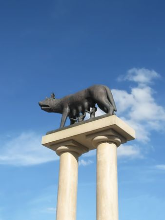 socle: Romulus and Remus