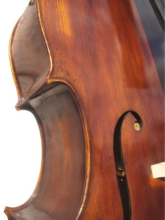 leant: contrabass - detail Stock Photo