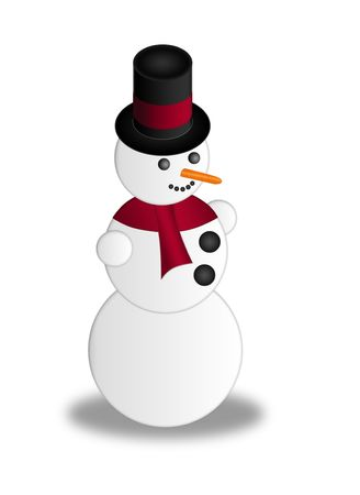 stovepipe: simple snowman with an elegant stovepipe hat