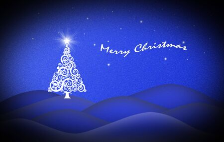 Beautiful Dream Of Christmas Night Card With Inscription Stock Photo - 8152238