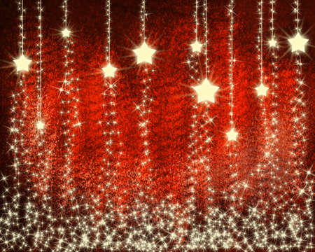 Christmas background with snowflakes and stars Stock Photo - 8447934