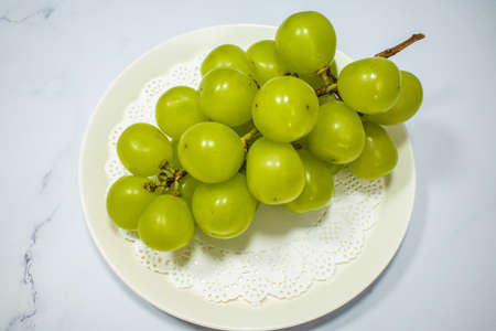 delicious grape named Shine Muscat Banque d'images