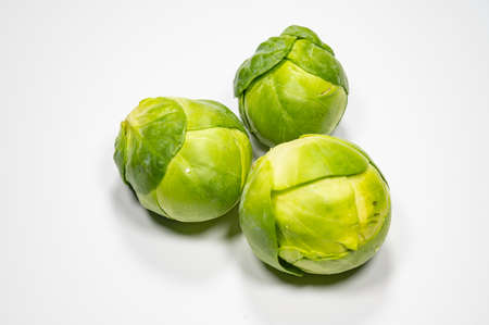 Brussels sprout with white background