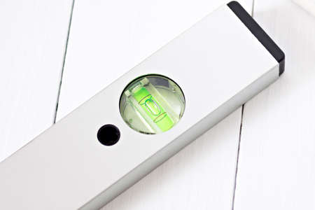 align: level meter accurate align bubble meter equipment Stock Photo