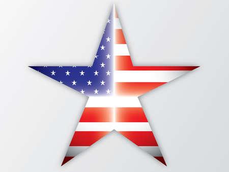 continente americano: Estrella EE.UU. Flag