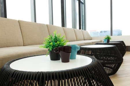 modern interieur: modern interieur living office Stockfoto