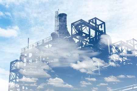 abstracte omgeving fabriek van de raffinaderij