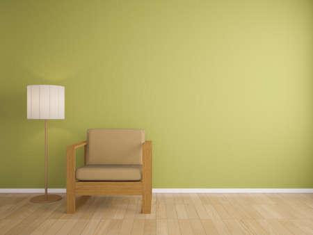sofa and lamp interior design, interior photo