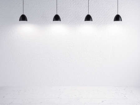 brick wall and lamp show, exhibition photo
