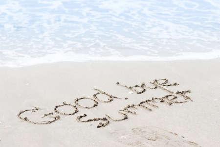 vaarwel zomer op zand