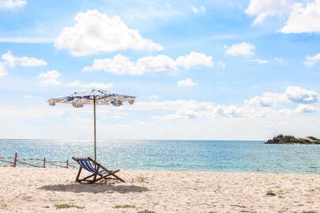einde van de zomer op het strand Stockfoto