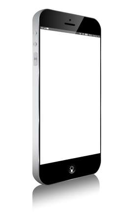 business phone: smart phone Moibile on white isolated background