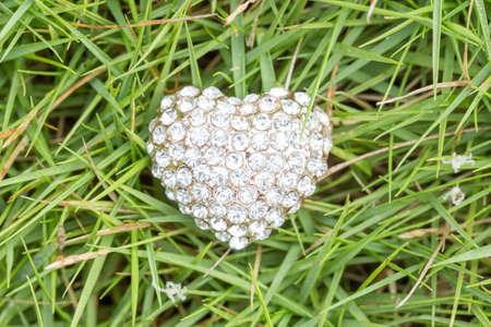 jewlery: heart love jewlery on grass