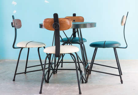 vintage chair: vintage chair and table furniture