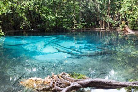 travel location: blue pool, travel location in krabi, thailand