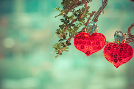 hart liefde symbool op boom